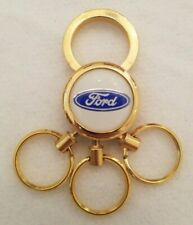Ford Keychain Gold Tone Multi Ring with 3 Removable Rings
