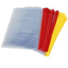 20 pezzi file cursore in Plastica per A5 carta sacchetti a chiusura zip Z9V6