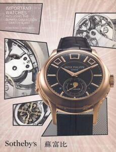 Sotheby's Catalogue Hong Kong Important Watches, Swatch & Arts, April 2015 HB