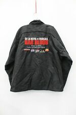 De La Hoya Vs Vargas Bad Blood 2002 Boxing Men's Black Windbreaker Jacket Size L