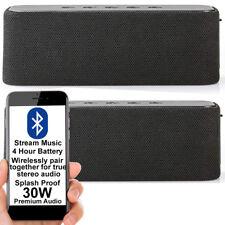 120W Stereo Bluetooth Lautsprecher Kit-schwarz-Kabellose Tragbare Wiederaufladba...