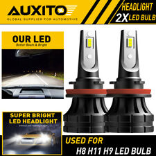 2X AUXITO H11 H8 LED Headlight 20000LM 120W White Kit Low Beam Bulb 6000K Z1 EOA