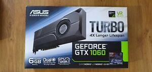 Asus Nvidia GeForce GTX 1060 6GB Turbo Dual Bearing Fan (6144MB) VR Ready