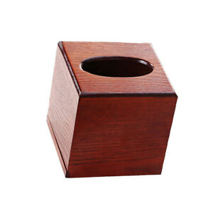 Bamboo Paper Towel Box Wood Towel Box Facial Tissue Box For Table Decoration