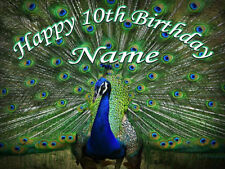 Peacock  Animals Jurgle Edible   ICING  CAKE TOPPER PARTY IMAGE FROSTING SHEET