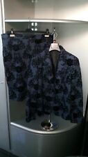 Abito in velluto bleu e nero/dress velvet/kleid samt tg.48 o 52