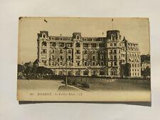 Biarritz France Vintage B&W postcard c1920s Carlton Hotel