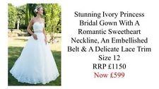 Ball Gown/Duchess Lace Regular Strapless Wedding Dresses