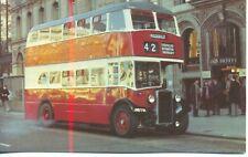 Preserved Manchester Corporation Crossley bus JND7911980s unused postcard