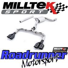 """MILLTEK SSXVW326 GOLF GTI MK7-R Style 3"""" Di Scarico Cat Indietro Non Res Race Nero"""