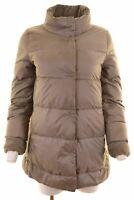 ARMANI Womens Padded Jacket IT 42 Medium Grey Polyester  JQ11