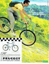 Publicité Advertising 087  1985  cycles Peugeot vélo VTT 1*