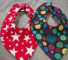 DaWanda Baby  Halstuch / Wendetuch rot Sterne bunt Mosaik Jersey