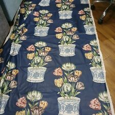 Vintage Brunschwig & Fils, Tulip Bowl, Cotton Chintz, -Navy Multi 2.8 metres