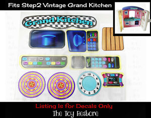 The Toy Restore Replacement Stickers fits Vintage Step2 Grand Kitchen Play