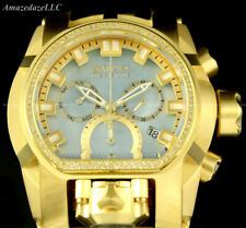 Invicta Men RESERVE Bolt Zeus Magnum Chronograph 52mm SS 0.43CTW DIAMOND Watch!!