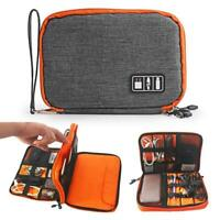 Layer Drive Cable Case Bag USB Electronic Organizer Gadget Storage Pouch