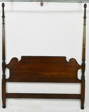 Statton Old Towne Solid Cherry Queen Poster Bed Carved Finals Williamsburg Style