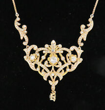 NYJEWEL 14k Solid Gold Amazing 2ct Diamond Necklace Must See!