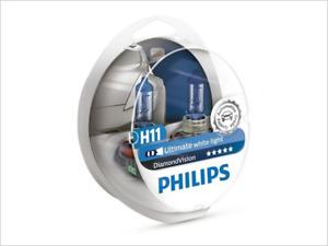 2x NEW PHILIPS DIAMOND VISION H11 12362DVS2 HEADLIGHT DRIVING LIGHT BULBS