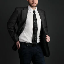 Tactical Laser Pointer Necktie Mens Tie Molle Attachment System D Loop Gift New
