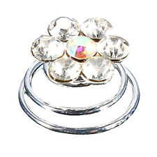 12Pcs Crystal Wedding Bridal Hair Pins Twists Coils Flower Swirl Spiral Hairpins