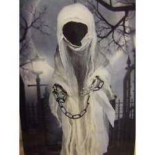 Halloween Faceless Hanging White Shroud Ghost Ghoul 100cm Party Prop Decoration