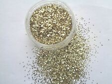 3G POT LIGHT GOLD  METAL SHINY GLITTER NAIL ART/TIPS/ACRYLIC/GEL