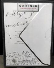 Gartner Silver Foil Floral Wedding Invitation Kit 25 count w/ envelopes (12622)
