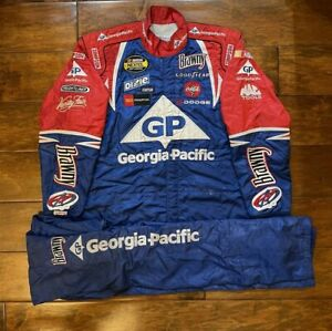 Race Used Kyle Petty #45 Georgia Pacific Racing Pit Crew Fire Jacket/Pant NASCAR