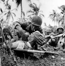WWII Photo Wounded US Marine on Guam USMC  World War 2 WW2  Pacific / 1195
