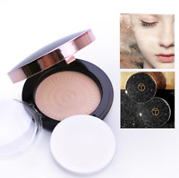 Makeup Beauty Face Pressed Powder Compact Smooth Contour Foundation with Puff