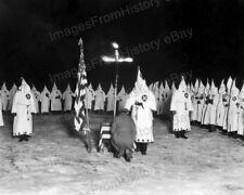 8x10 Print KKK Ku Klux Klan Ceremony Gathering Cross Burning #K116
