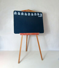 grand tableau d'écolier ardoise pliable JeuJura Vintage 100cm