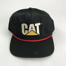 Vintage Caterpillar CAT Hat Cap Embroidered CAT Black Made In USA