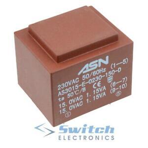 Encapsulated Mains PCB Power Transformer - 6V 9V 12V 15V 18V 24V