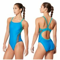 NEW Speedo Relaunch Splice Flyback ProLT Blue Swimsuit Size 30 NWT
