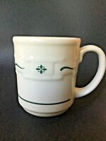 Longaberger Woven Traditions Heritage Green Coffee Mug Tea Cup 12 Oz