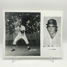 "BILL BUCKNER - Los Angeles Dodgers Baseball - 2 Photographs on 8"" x 10"" Page"