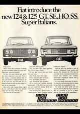 "1971 FIAT 124 125 SEDAN AD A4 CANVAS PRINT POSTER 11.7""x8.3"""