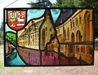 *Vintage Stained/Leaded Glass Hand Painted Panel Saint-Jans Hospital Bruges