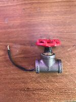 "Steampunk ~ Industrial 1/2"" Black Iron Pipe Rotary Lamp Switch w/red handle"