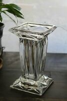 Partylite Reversible Quad Prism Crystal Square Pedestal Pillar Candle Holder - V