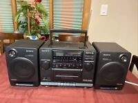 Sony CFD-440 Portable AM/FM Stereo CD Cassette Player Boom Box ~Need  REPAIR