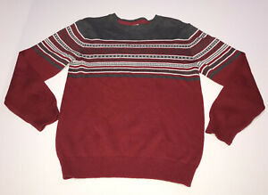 Gymboree Christmas Sweater Boys Large (10-12) Red Gray White Holiday