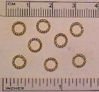 6mm SOLID TWIST CLOSED JUMP RINGS for 1:9 or 1:12 Scale Model Horse Tack - GOLD