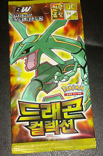 KOREAN Pokemon Card pack of 5 Cards DRAGON COLLECTION