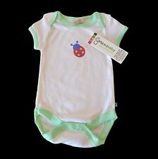 100% CERTIFIED ORGANIC COTTON BABY GIRL BODYSUIT / ONESIE / ROMPER CUTE 000 / 00