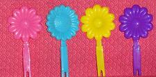 Daisy,Barrett Cupcake Pick,12 ct.Plastic,B-Day,Child,DecoPac,Multi-color,Flower