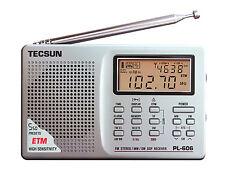TECSUN PL-606 DIGITAL PLL FM/MW/LW/SW RADIO + GIFT   ** SILVER **